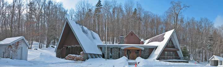 Birch Ridge Inn blanketed in new snow
