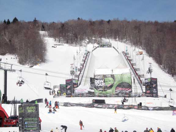 Superpipe at Bear Mountain for the Dew Tour