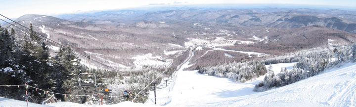 The view from the top of Superstar today.