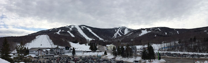 Killington resort.  Snow covered with more on the way.