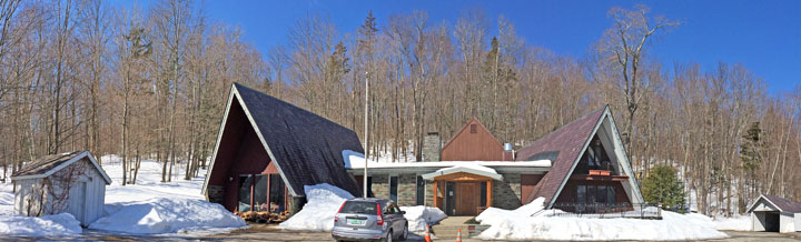 Almost 2 feet of snow still surrounds the Birch Ridge Inn. April 3, 2014.