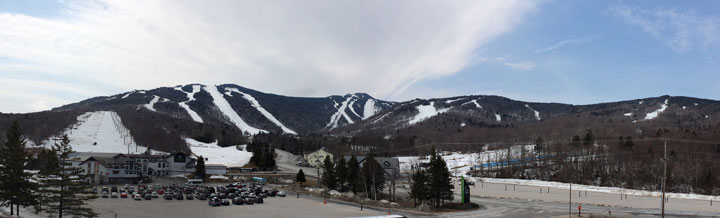 Killington resort still has good snow coverage.