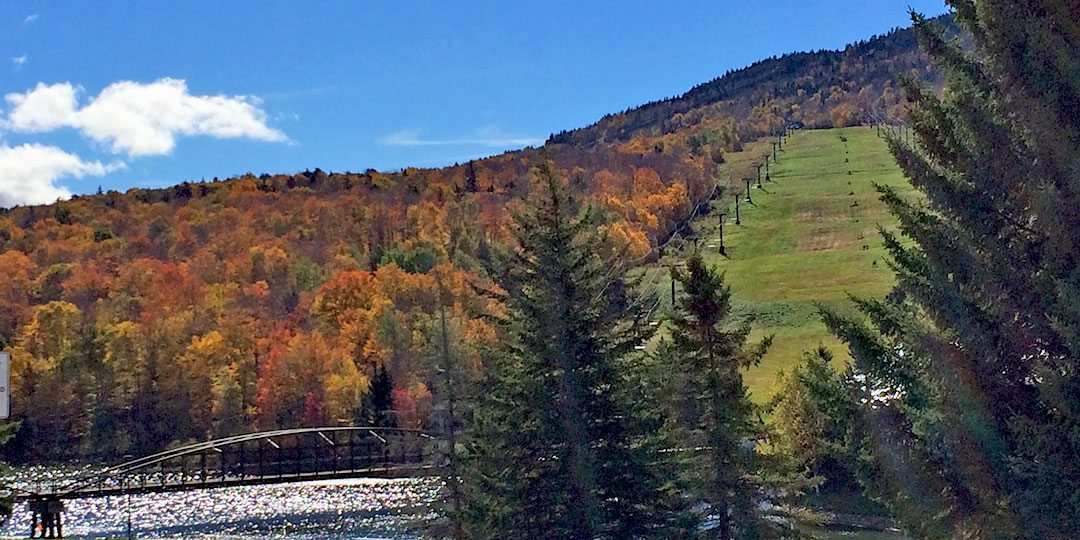 Killington, VT - Views of Fall Foliage from the K1 Gondola ...