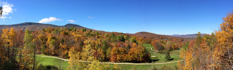 Overlooking holes 16 and 11 at the Killington Resort Golf Course