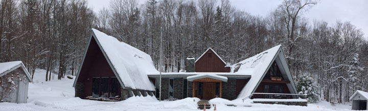 The Birch Ridge Inn covered in the first significant snow of the 2014 season.