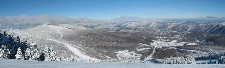 The spine of the Green Mountains from Killington and Pico to Sugarbush and beyond.