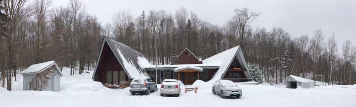 The Birch Ridge Inn covered in freshly fallen snow