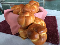 Fresh Baked Frizzie Rolls at back!