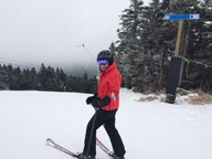 Mary at Killington Peak on Great Northern