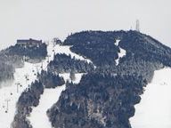 Even in an El Nino year, Killington Peak is covered in snow.