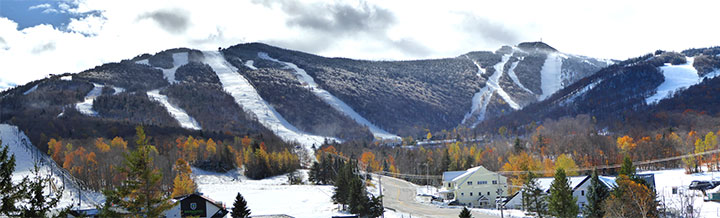 Snow covers the Killington resort, Sunday October 23, 2016