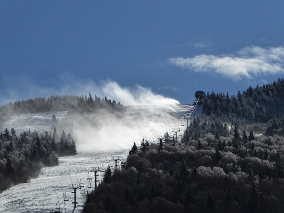 Snow making in full swing on Superstar to prepare for the Audi FIS Work Cup in November, Sunday October 23, 2016