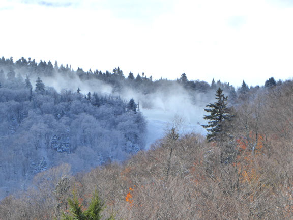 Snow making ongoing on Rime in preparation for the official opening of the 2016-2017 skiing and riding season at Killington, Sunday October 23, 2016