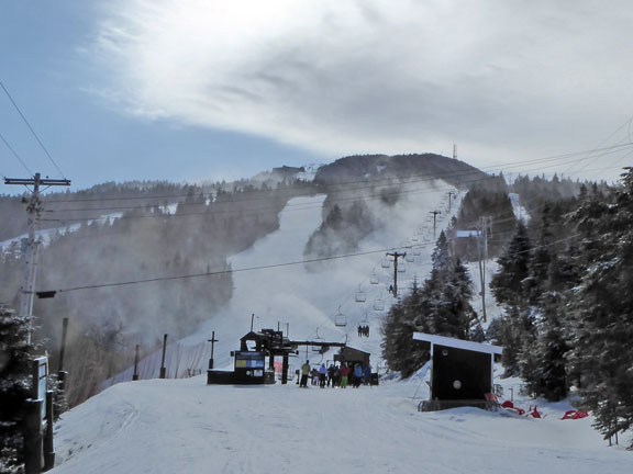 Snow making ongoing on Killington Peak on Rime and Reason