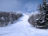 Upper Dream Maker at Killington resplendent in sun and snow