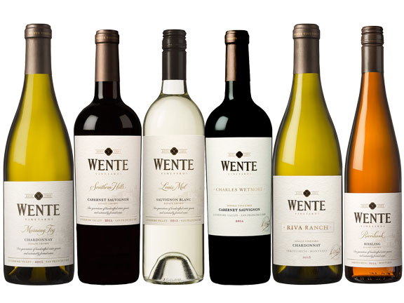 Wines from Wente Vineyards featured at the Birch Ridge Inn during the inn's annual Killington Wine Festival dinner