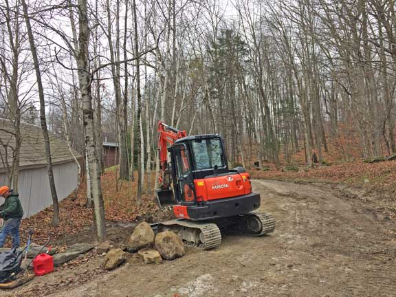 Working on rebuilding the driveway to the inn.