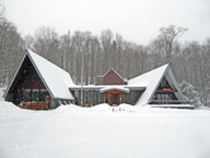 Merry Christmas from the snow covered Birch Ridge Inn at Killington
