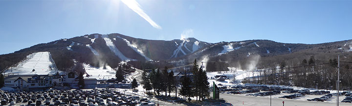 Snow making operations taking place around the Killington Resort  Taken January 26, 2018