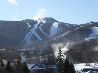 Snowmaking in progress on Killington Peak