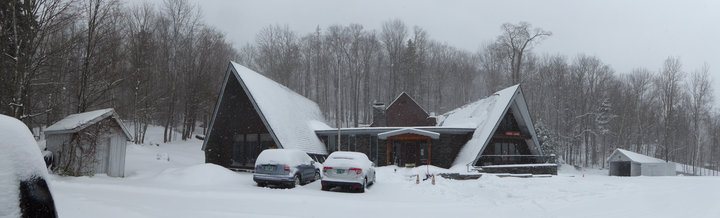 Birch Ridge Inn covered with new snow.  Taken March 2, 2018