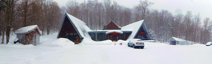 Birch Ridge Inn once again covered with new snow.  Taken March 13, 2018