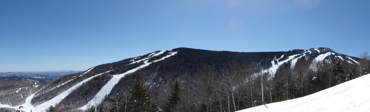 The Killington Resort from Killington Peak to Superstar taken from Highline, Monday March 26th.