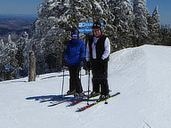 Bill and Mary at the top of Double Dipper on Killington Peak