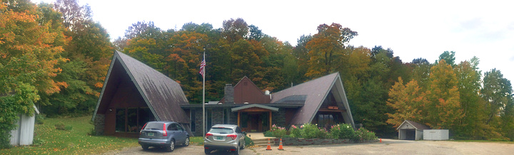 The Birch Ridge Inn;  bathed in fall colors. Thursday. October 4, 2018.