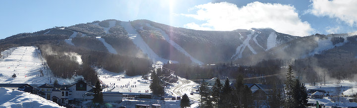 The Killington Basin covered in snow.  Don't forget to check out Bear Mountain on your visit.
