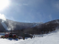 Killington Peak with snow making operations taking place all over resort. (Picture taken Monday 1/28/19)