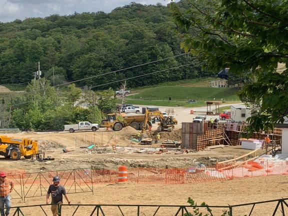 Concrete foundation work underway at K1.