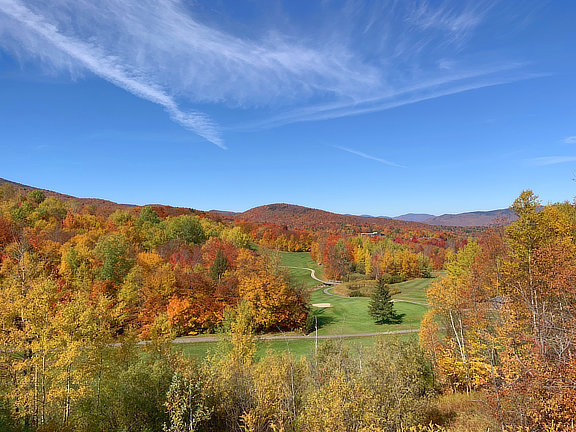 Overlooking the 11th hole at the Killington Resort Golf Course, Sunday October 13, 2019